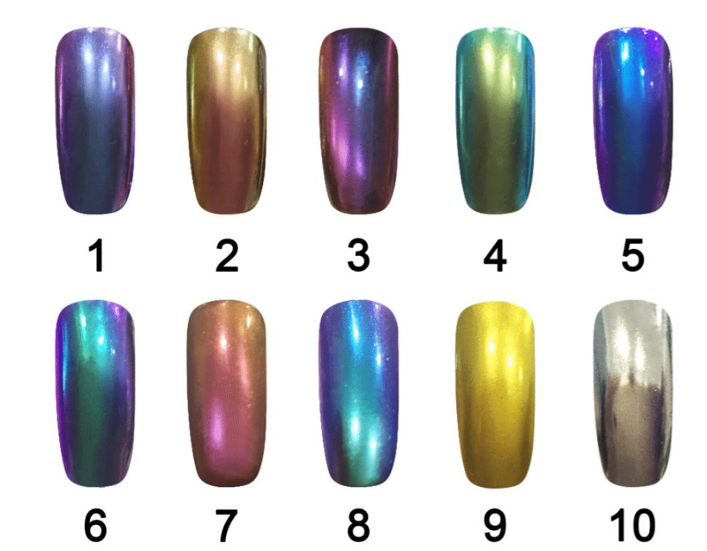 chrome nail powder chameleon pigment with metallic and mirror effect ...