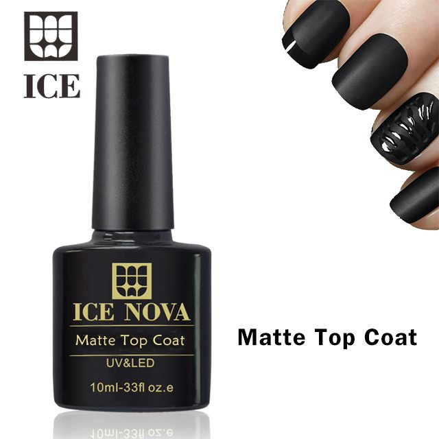 Matte Top Coat Gel Nail Polish No Wipe Non-Cleansing Long Lasting ...